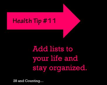 lists; organization